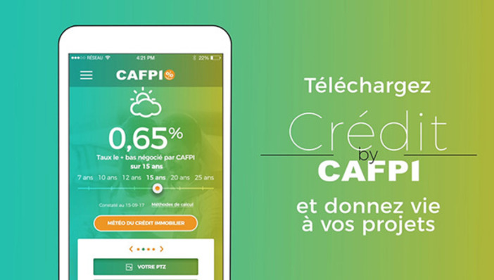 Immobilier, application iOS, crédit by Cafpi